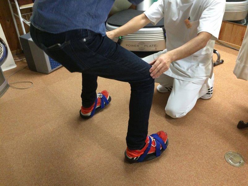 足首捻挫後のリハビリ